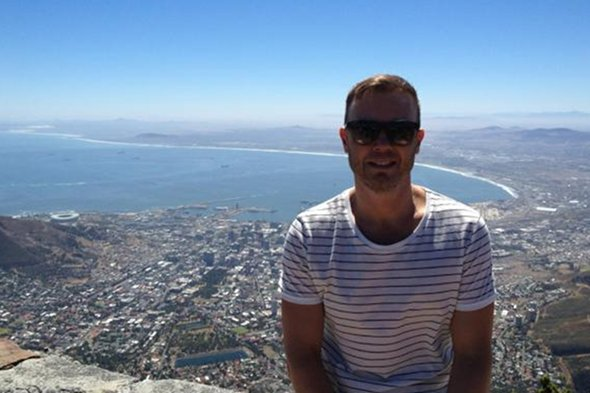 Gary Barlow takes in the views of South Africa