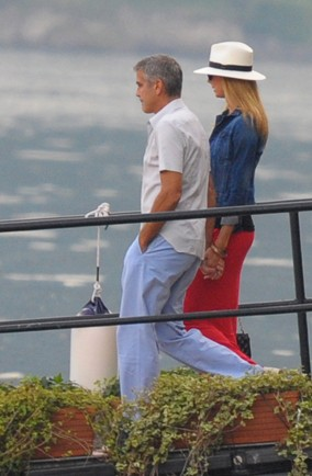 George Clooney shows Stacy Kiebler his Lake Como holiday home