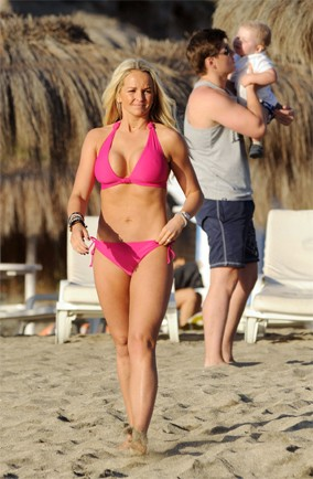 Jennifer Ellison's family beach break in Tenerife