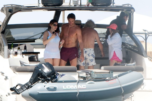 Kelly Brook and Thom Evans' romantic boat trip in Ischia