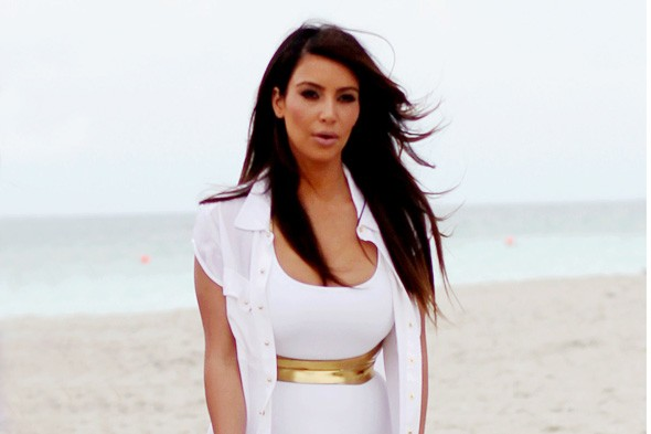 Kim Kardashian hits the beach in Miami