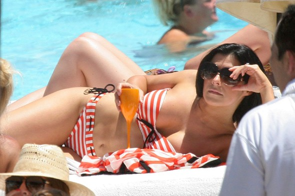 Kym Marsh's hen party in Marbella