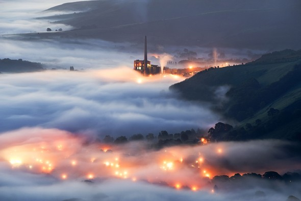 The Cement Works &amp; Castleton, Derbyshire, England