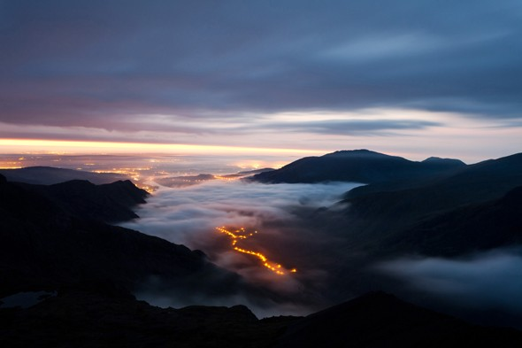 Above the Clouds on Crib Goch, Snowdonia, Wales