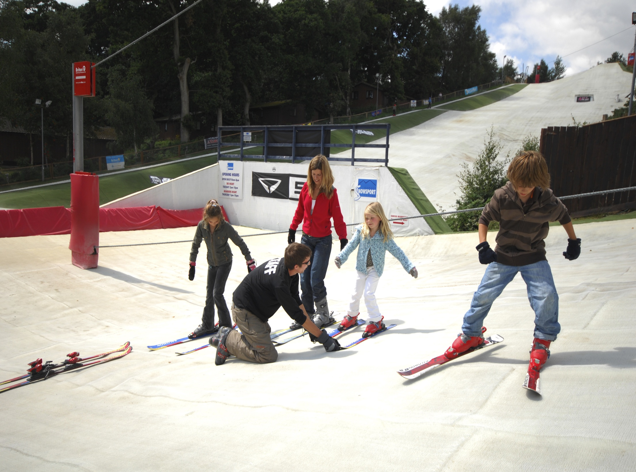 Ski at an Alpine park... in Britain
