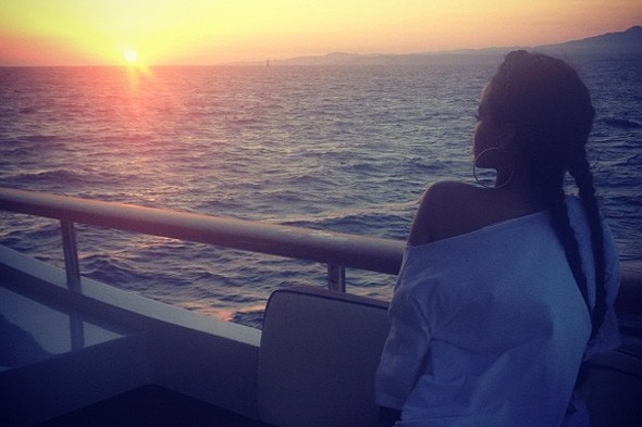Rihanna hits the sun-soaked Mediterranean