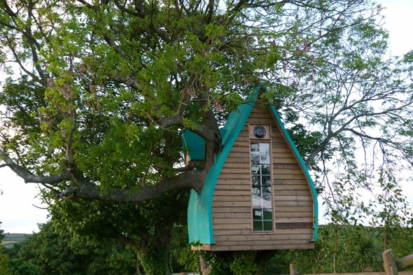 Sleep in a treehouse