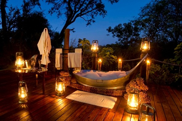 Bathe under the stars in Botswana