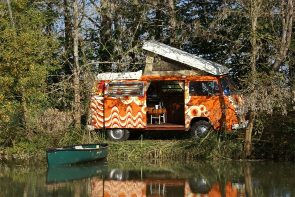 Colourful camper vans become the coolest way to travel South West France