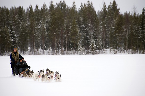 Say 'thank you' to Santa in Finnish Lapland
