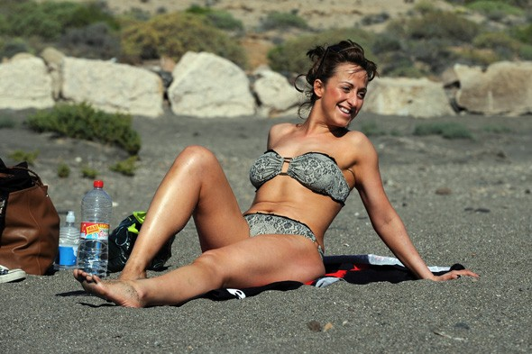 Natalie Cassidy soaks up the sun in Tenerife