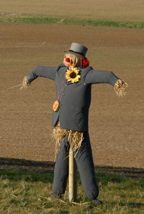 Make your own scarecrow at RHS Garden Hyde Hall in Essex