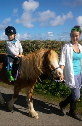 Go horse riding in Cornwall