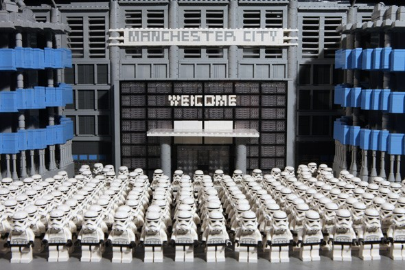 Star Wars LEGO models take over Manchester