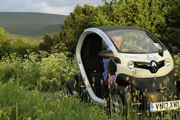 Rent a Twizy in the Brecon Beacons
