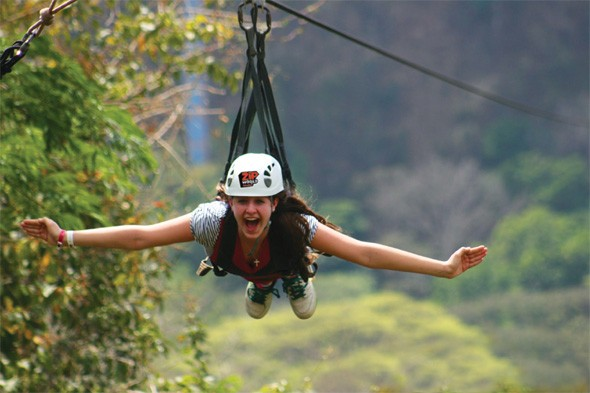 Visitors to Wales can fly on the world's largest zip wire attraction
