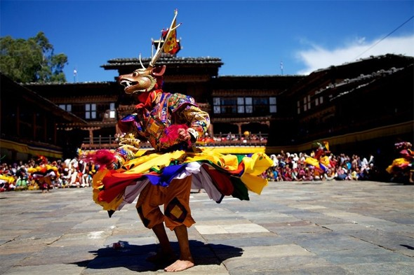 Do some dancing in Bhutan