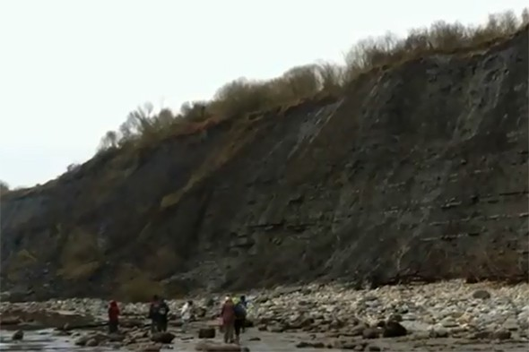 Dorset beach closed following major landslip
