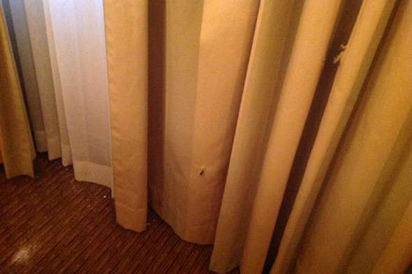 Hotel guest sleeps through loud noise and wakes up to bullet holes in room