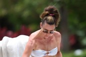 Michelle Heaton hits Miami Beach for Lorraine show