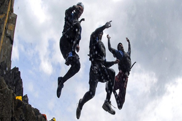 Explore the rocky coast of Wales on a coasteering holiday