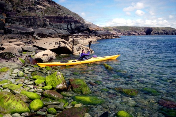 Explore the Welsh coastline in a kayak