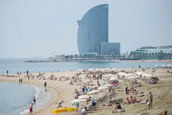 If you travel to Barcelona have a nice day on the beach!