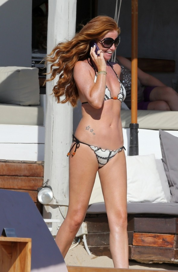 Patsy Palmer Relaxes In A Bikini On Family Holiday In