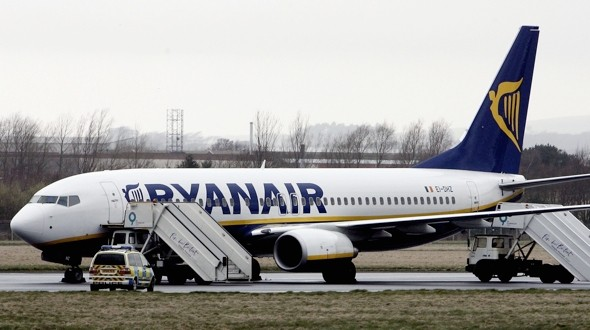 Holiday flight hell as 30 yobs terrorise Ryanair plane to Ibiza