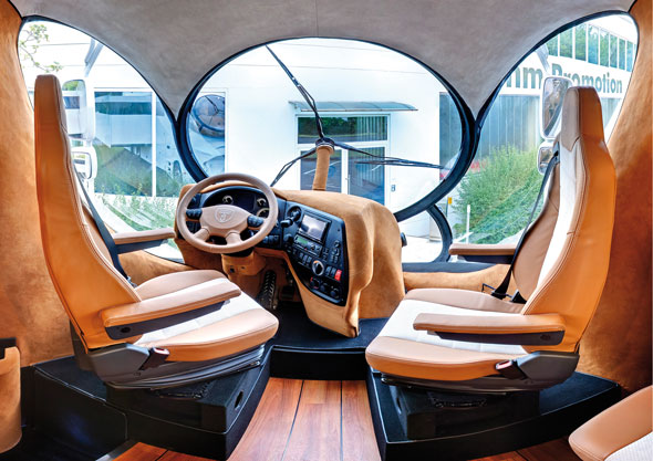 Marchi EleMMent Italian Design Motorhomeinterior Drivers Seat Note The Rotary 3 Bladed Windshield Wiper For Round