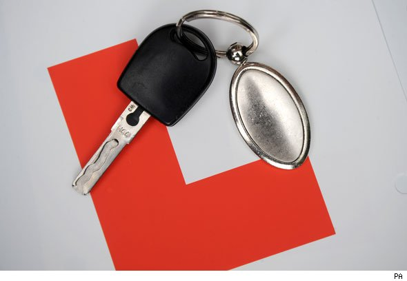 L plates and car keys