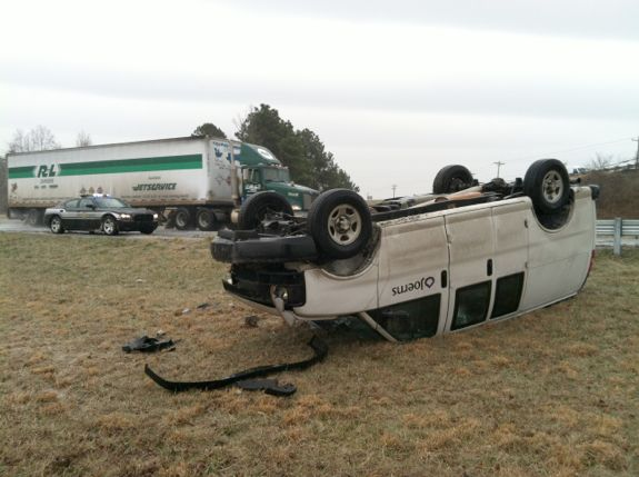 Ice and Snow Cause Hundreds of Wrecks in NC