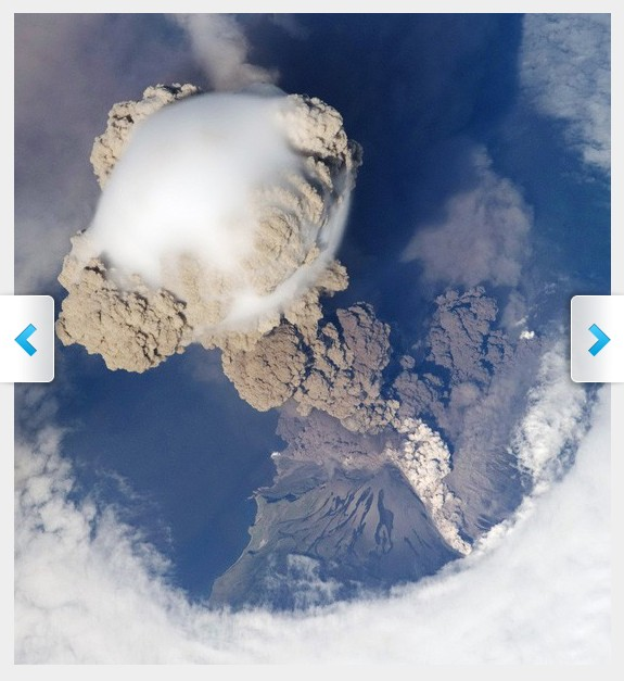 Volcanic Eruptions from Space