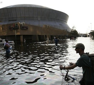 Hurricane Katrina, Superdome, Flooding