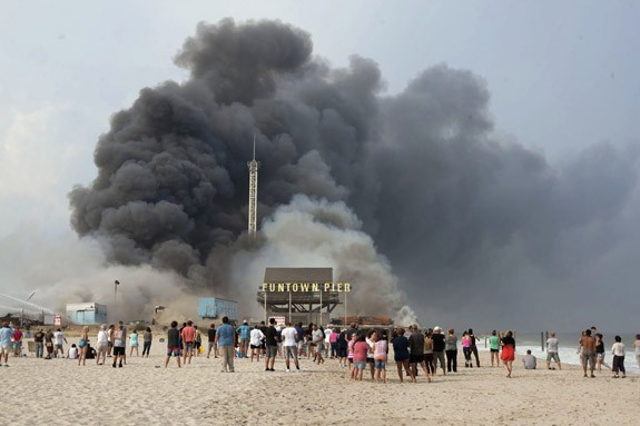 New Jersey Boardwalk Fire