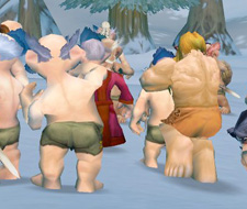 Level 1 naked gnomes flooding an online server
