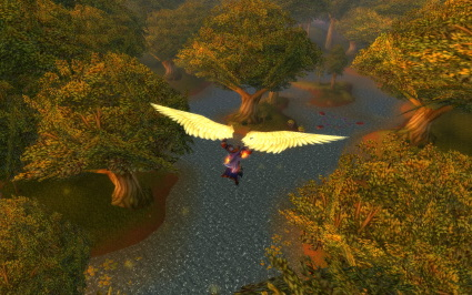 Flying over Elywnn Forest