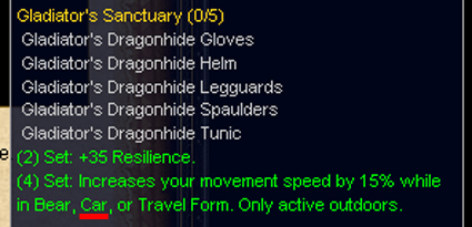[The new druid PVP: *vroom* *mangle* *beepbeep*