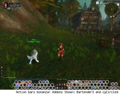 Action bars bonanza! Addons Shown: Bartender3 and cyCircled