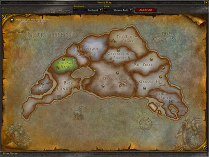 world of warcraft map northrend. map of Northrend.