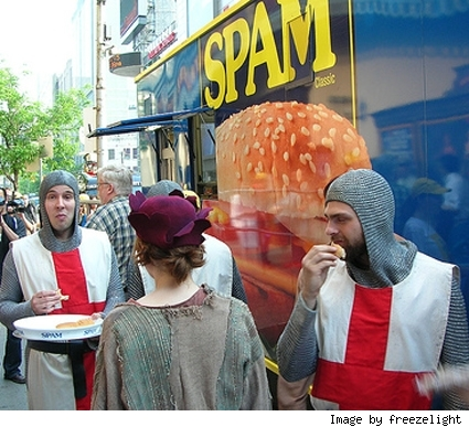 [Spam! Spam! Spam! Spam! -- Only Monty Python could make Spam cool.]