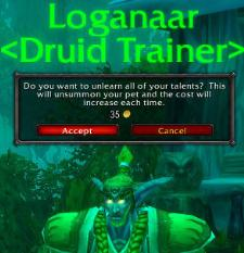 Druid trainer respec