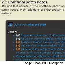 Unofficial 2.3 Patch Notes