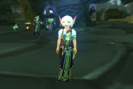 world of warcraft blood elf rogue. her lood elf orphan right