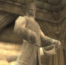 Daelin's statue in Stormwind City