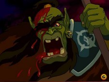 Durotan as he appeared in the scrapped Warcraft adventure game Lord of the Clans