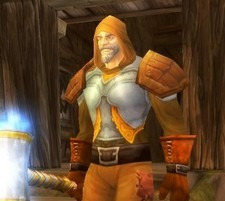 Tirion Fordring at his farm in the Eastern Plaguelands