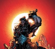 Varian Wrynn, shown in his days as the gladiator Lo'Gosh
