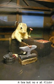 Blacksmithing gopher