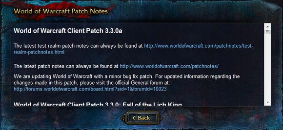 World of warcraft patch 3.3.0 a, wow patch change, patch 3.3.0